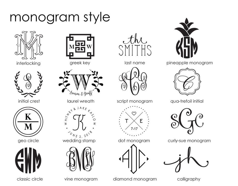 ... - monogram print styles
