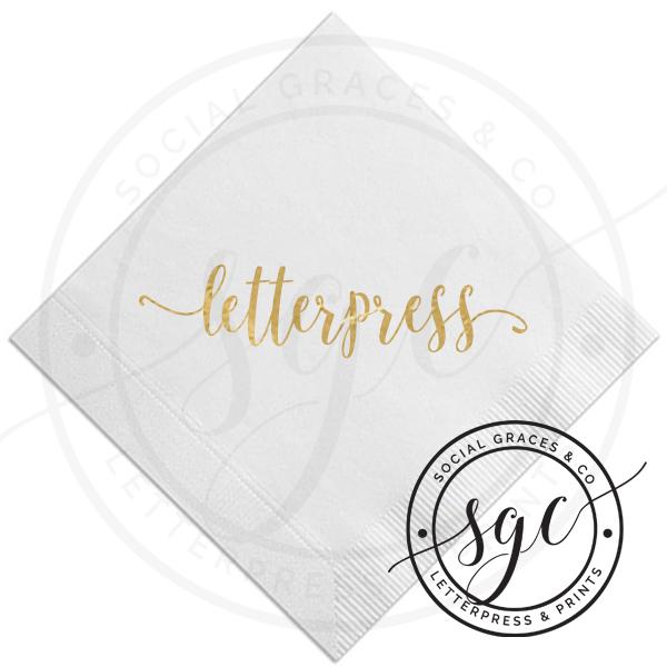 Premium Letterpress Napkins -