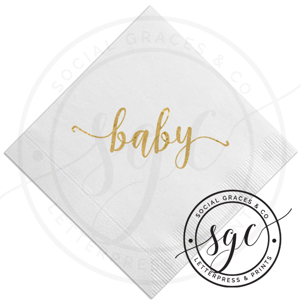 Baby Shower Napkins -