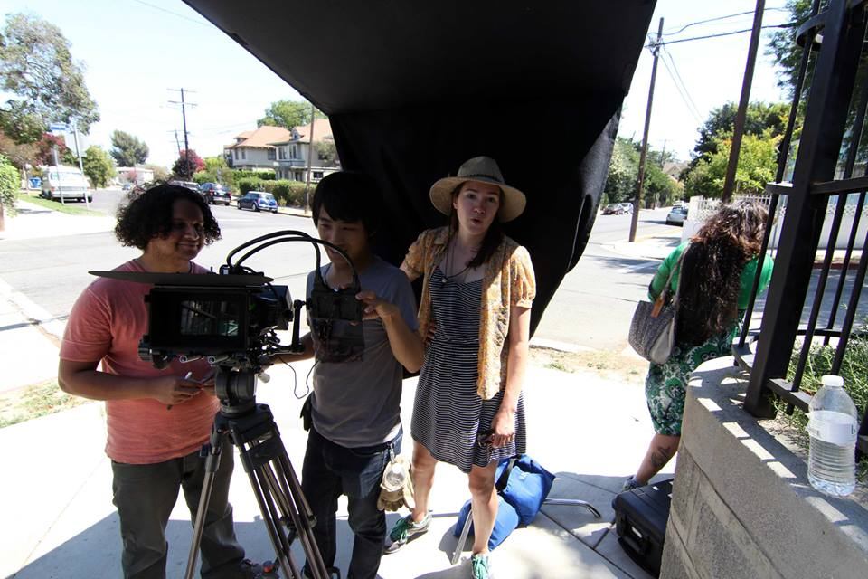 Jenny on set in Angeleno Heights, 2013