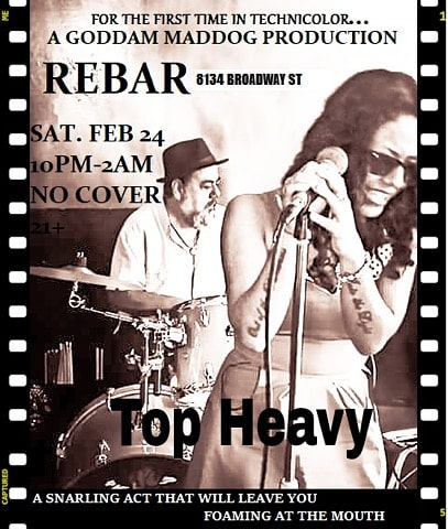 Live tonight at REBAR!!! Where there's never a cover and always a party!!!!