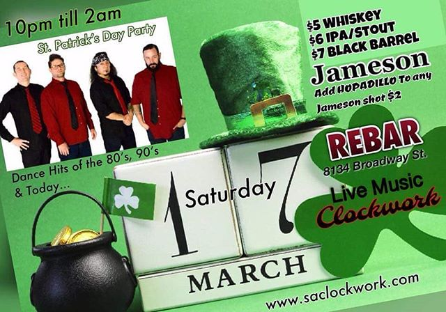 St Patrick's Day at REBAR!!!