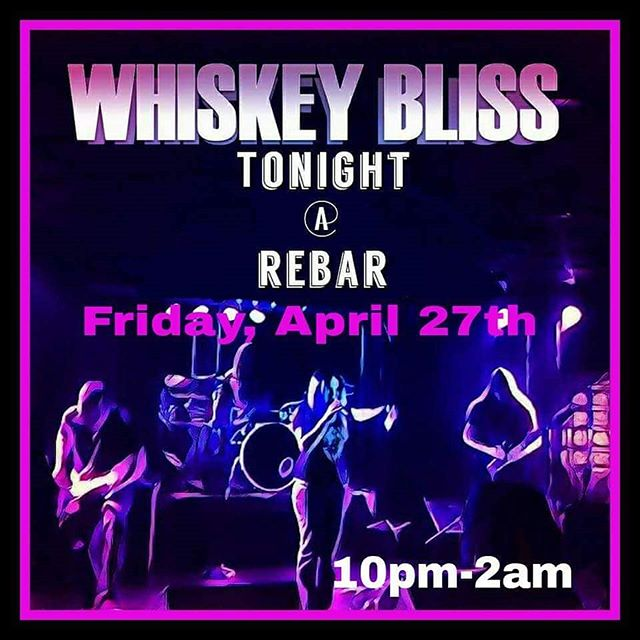 Tomorrow night live at REBAR!! No cover!!!