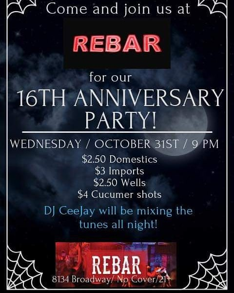 Tomorrow night at Rebar!!