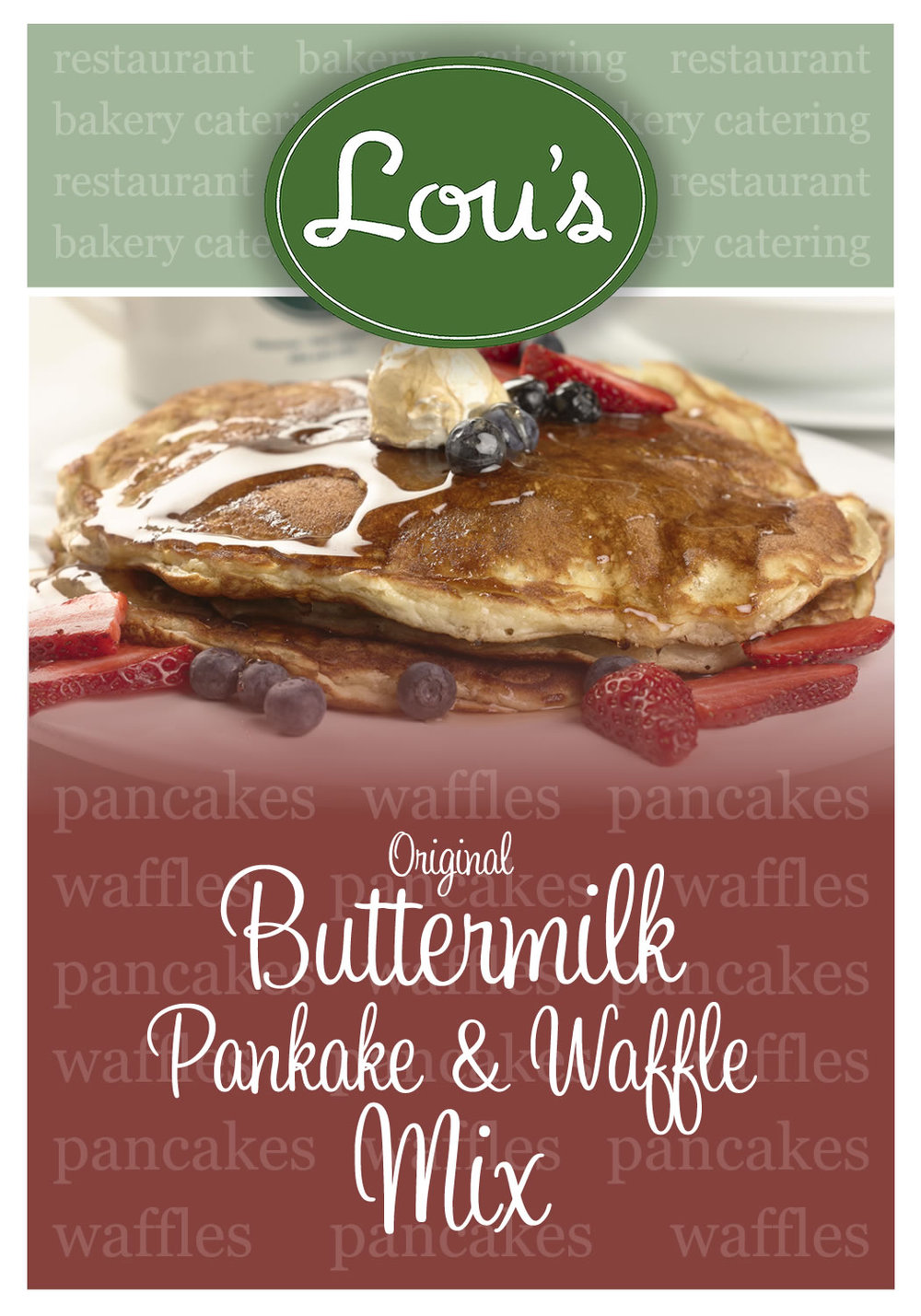 Lou's Restaurant & Bakery - Product Label