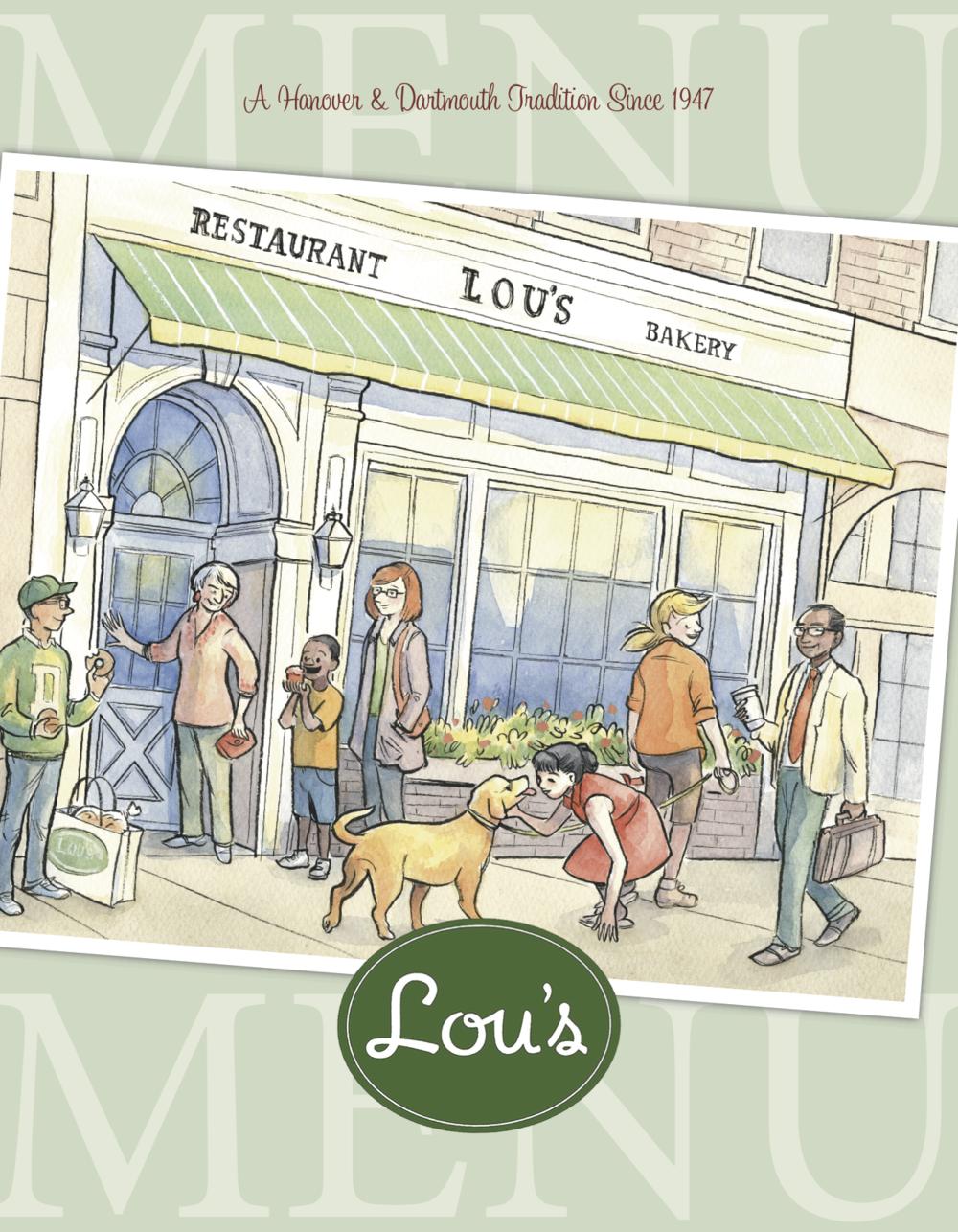 Lou's Restaurant & Bakery - Menu (cover)