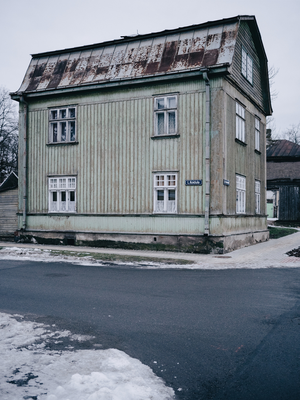 Corner of Koidula & Kreutzwaldi, Võru, Estonia. January 2015.