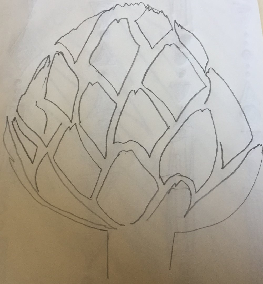 my rendition of an artichoke.