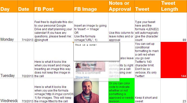 Social Media Content Schedule Template Social Media Content Calendar