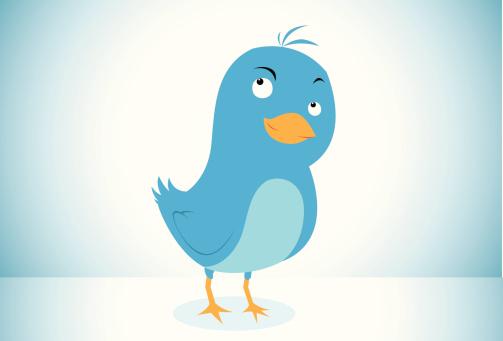 Twitter bird character