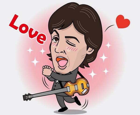 Paul McCartney sticker on LINE