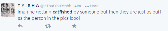 Catfish term on Twitter