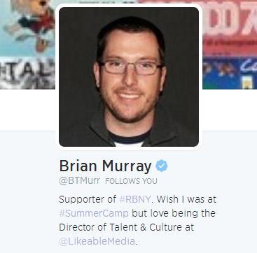 Brian Murray's Twitter Bio