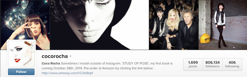 Model Coco Rocha Instagram