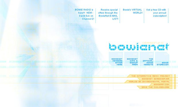 David Bowie's Landmark Website