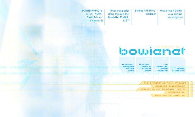 David Bowie's Landmark Website