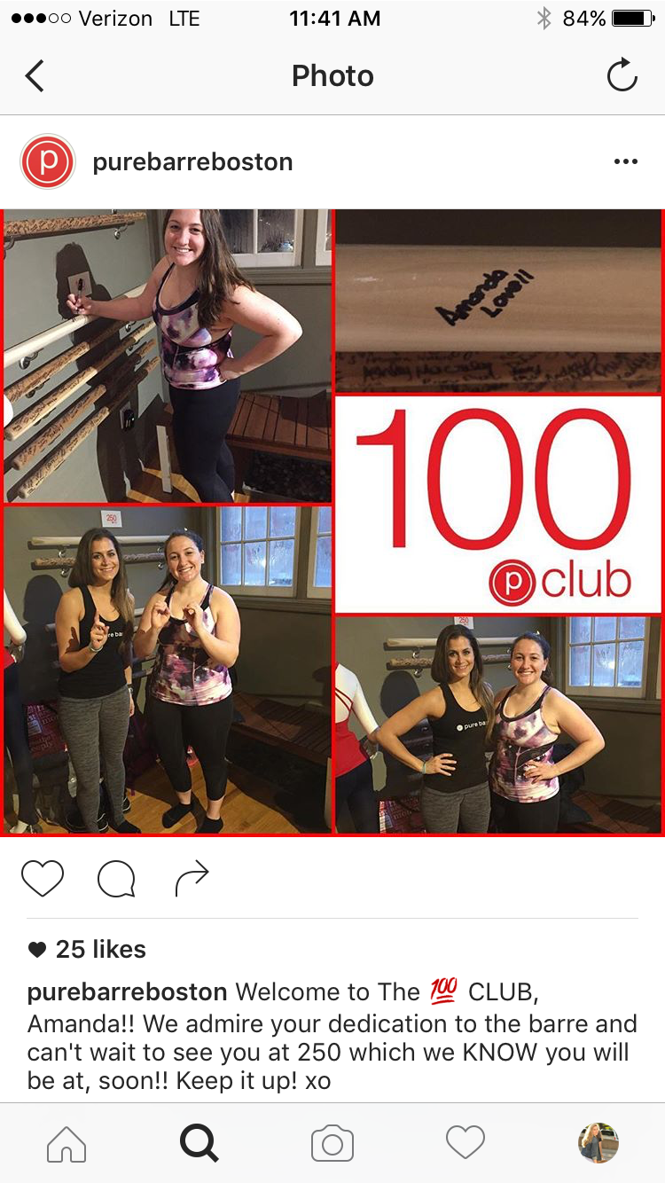 Pure Barre Instagram