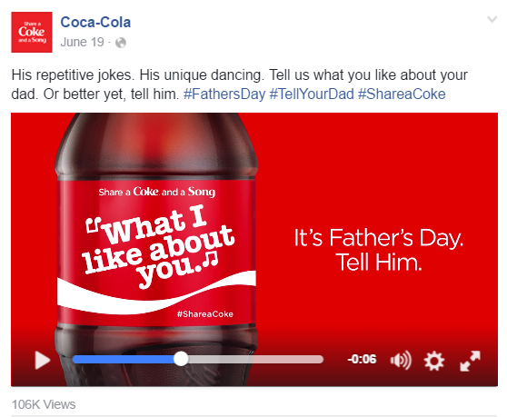 Facebook Coca-Cola Ad