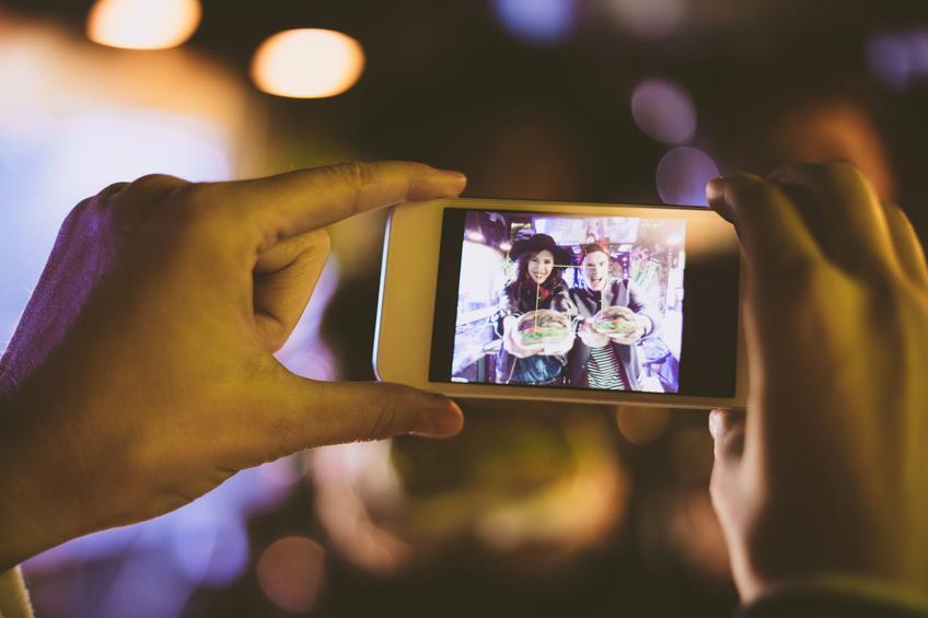mobile device social advertising