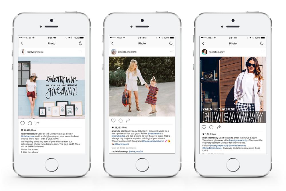 Sponsored Giveaways Instagram Influencers