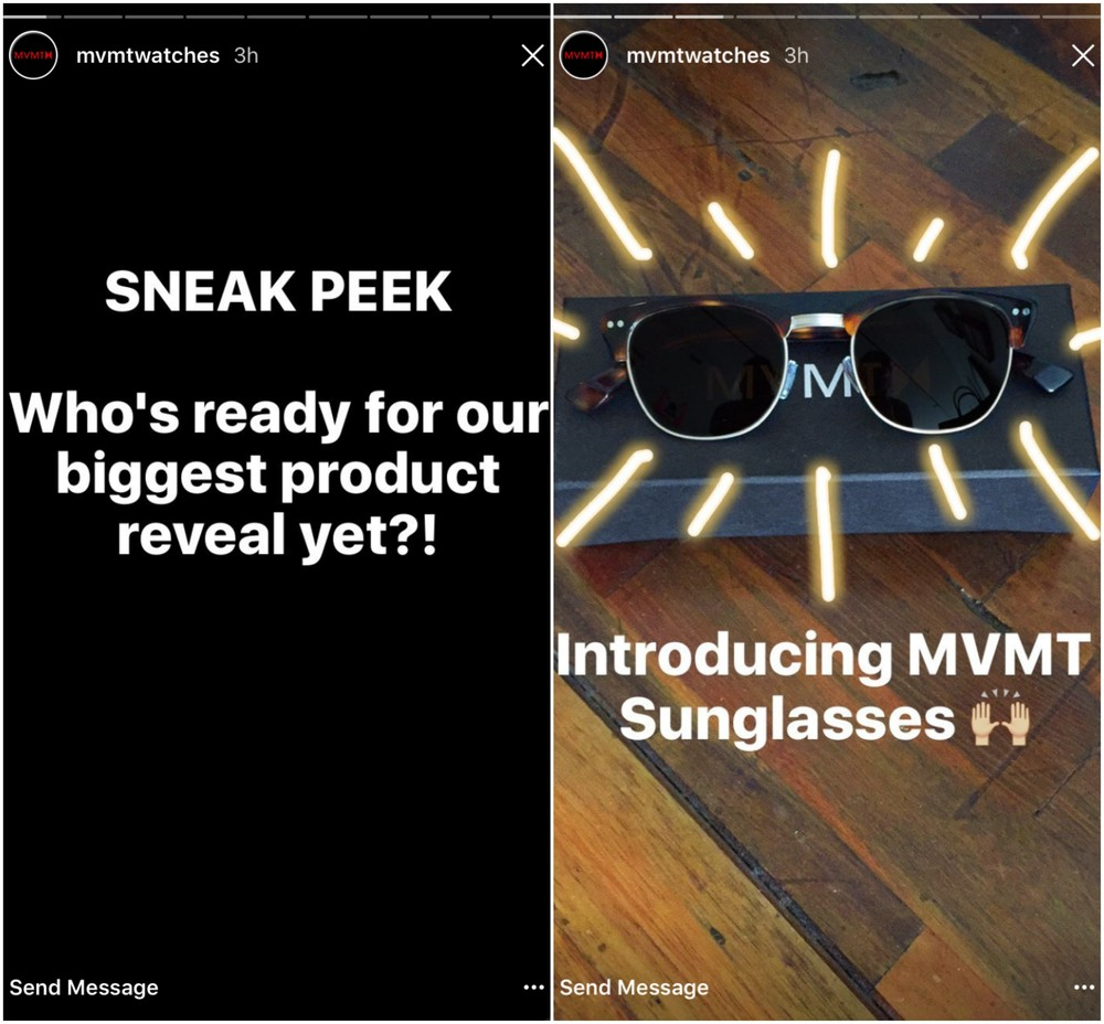 MVMT Watches Instagram Stories