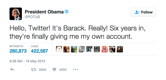 Presidential Social Media Account @POTUS