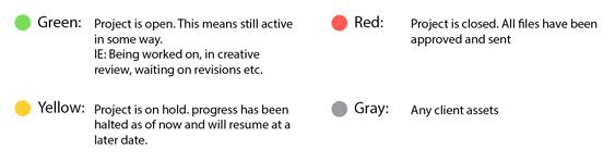 file color codig