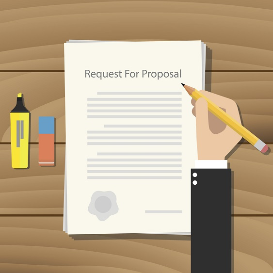 vector designed Request for Proposal document