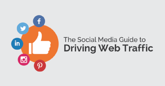 Using social media to drive web traffic graphic design