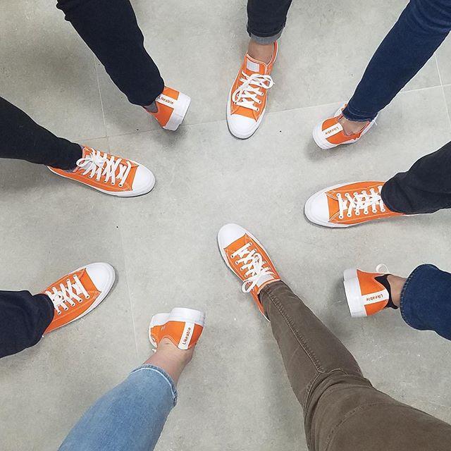 Welcome to the orange shoe club, @justjessi22. Happy 3-year #Likeaversary!