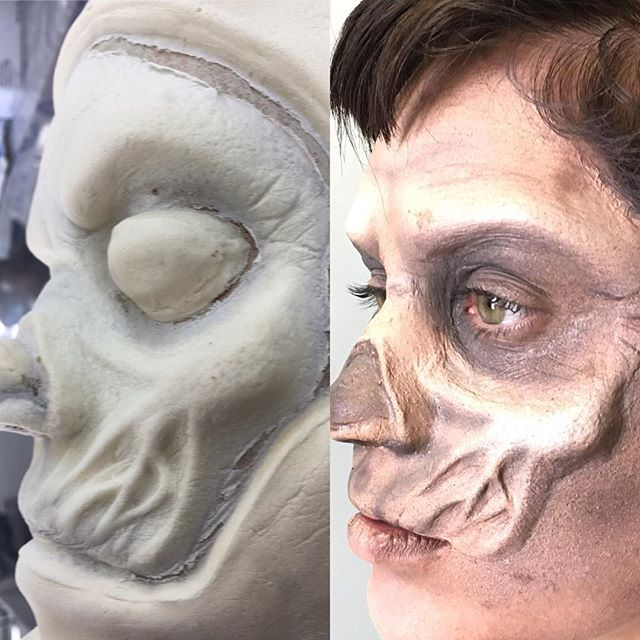 Applied custom foam latex prosthetic