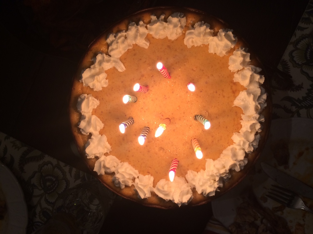 B'Day Pumpkin Pie Cake Style