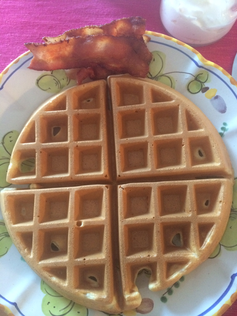 Waffles and Bacon mmmmmmm...