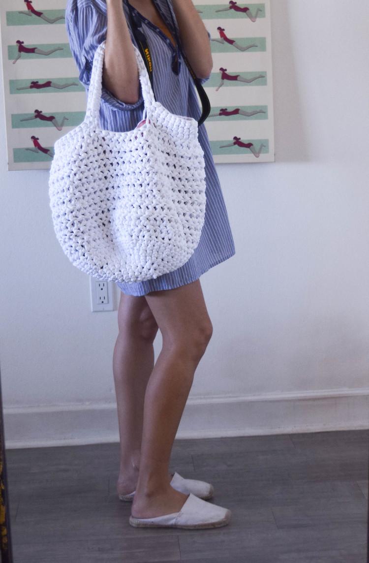 basket beach made with Ganxxet fabric yarn