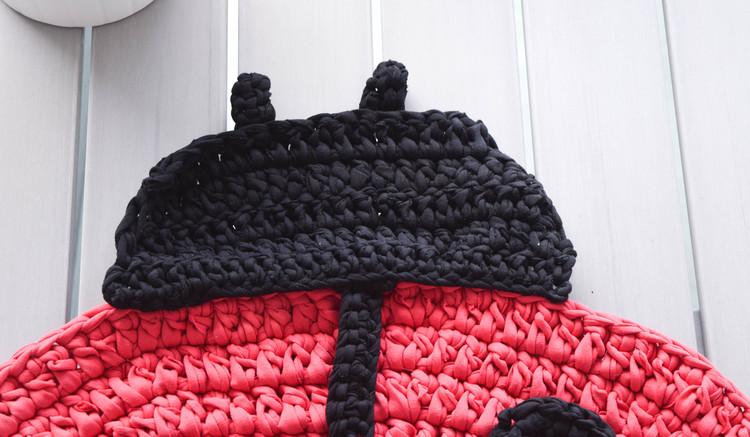 detail ganxxet fabric yarn ladybug