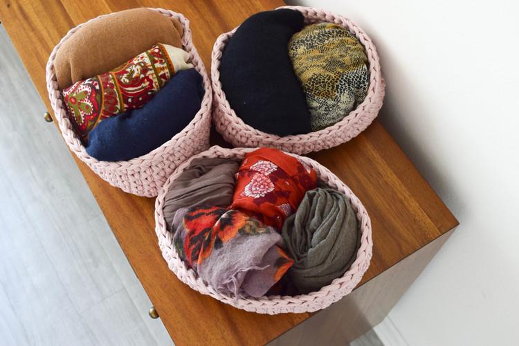ganxxet fabric yarn oval baskets