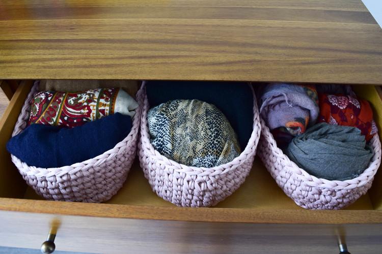 Ganxxet oval crochet basket