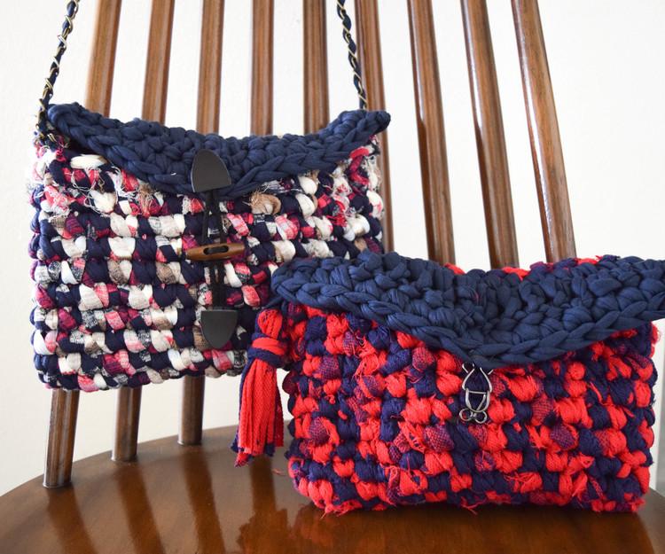 Ganxxet fabric yarn clutch