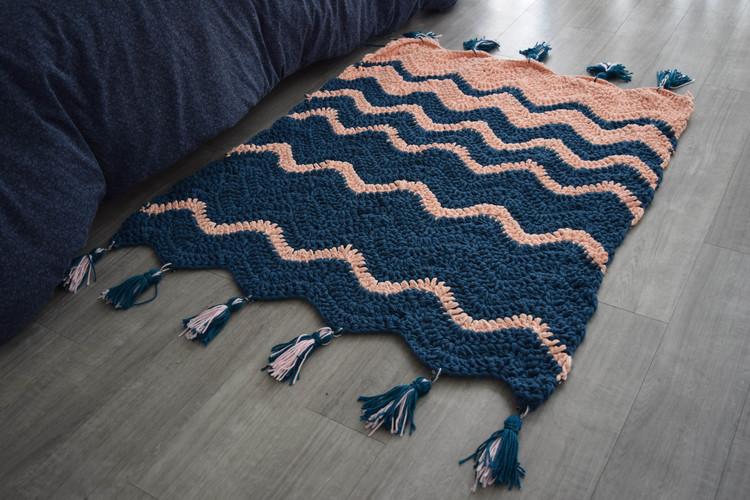 chevron stitch rug