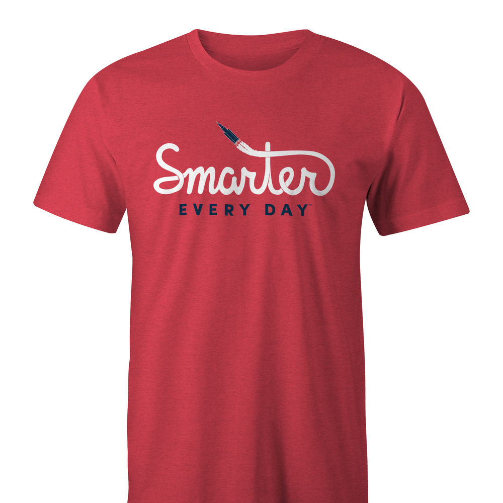Custom Order Smarter Every Day Rocket Shirt