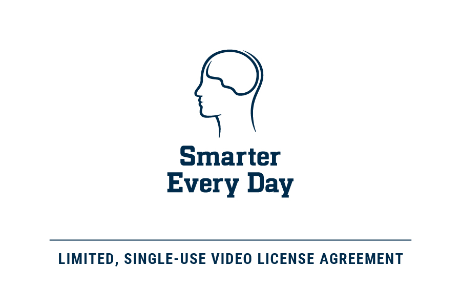 Sed Limited Single Use Video License Agreement Smarter Every Day