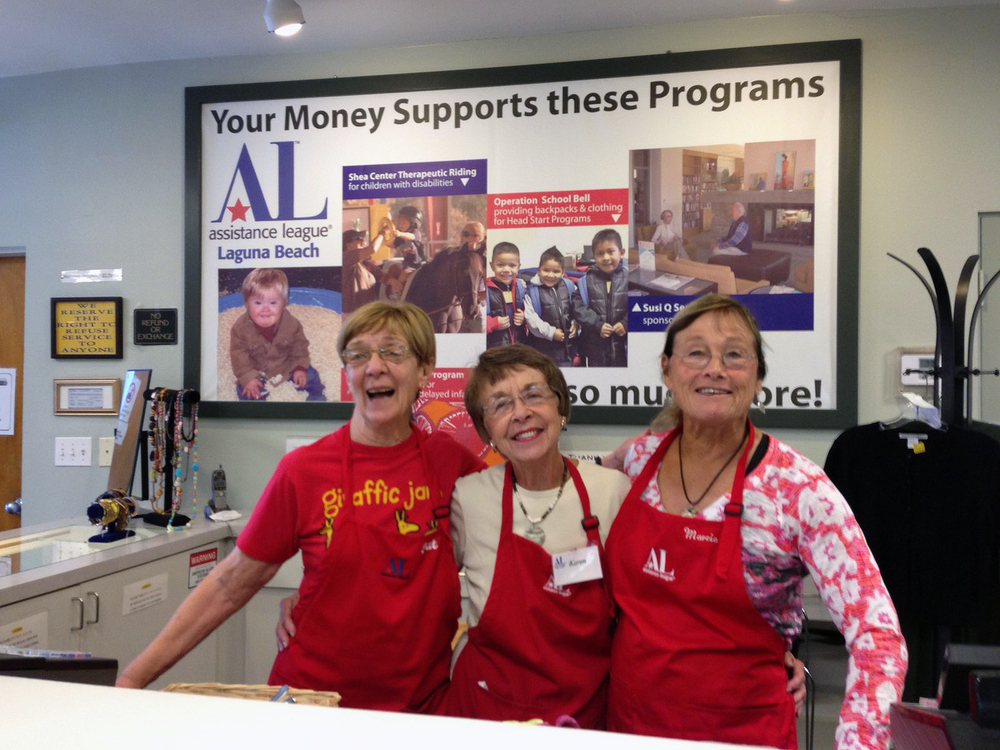 Volunteers in the Assistance League Thrift shop at 526 Glenneyre
