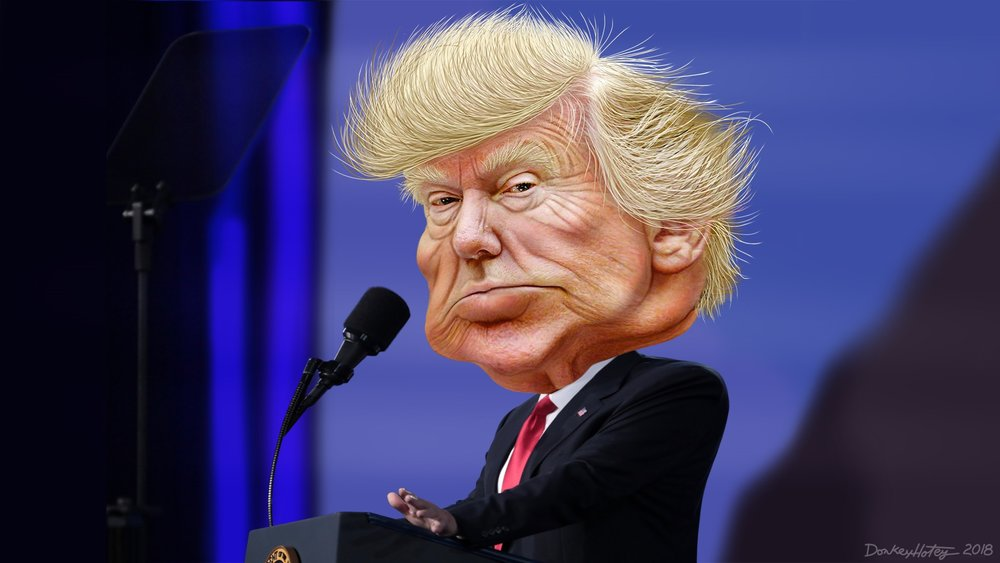 """Donald Trump - Caricature"" by  DonkeyHotey"