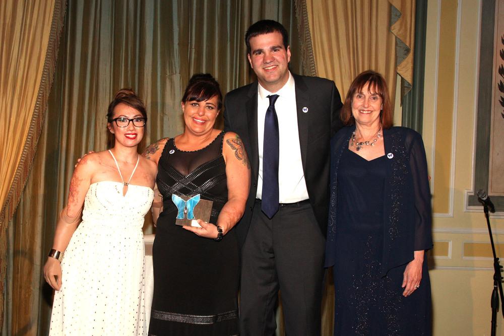 National Meningitis Association survivors Carl and Karen and president Lynn Bozof