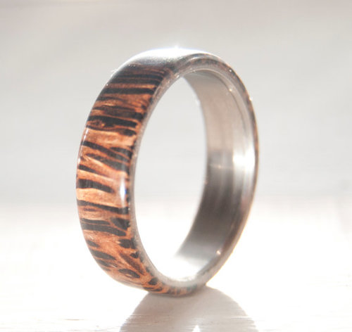 coconut wood wedding ring - Wood Wedding Ring