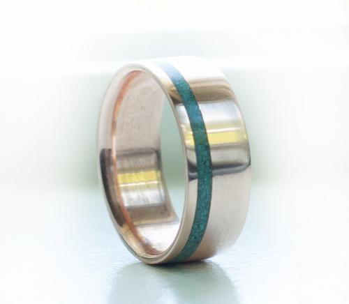rose gold turjpg - Turquoise Wedding Rings