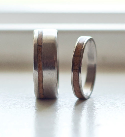 Mens Wedding Bands Wood Inlay Wedding Design Ideas