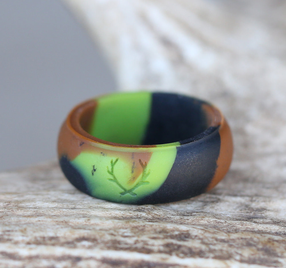 wear in the wild rings safety wedding rings Camo silicone wedding band