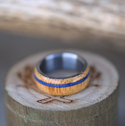 womens etsy il band ring bamboo market wood wedding eco bentwood rings
