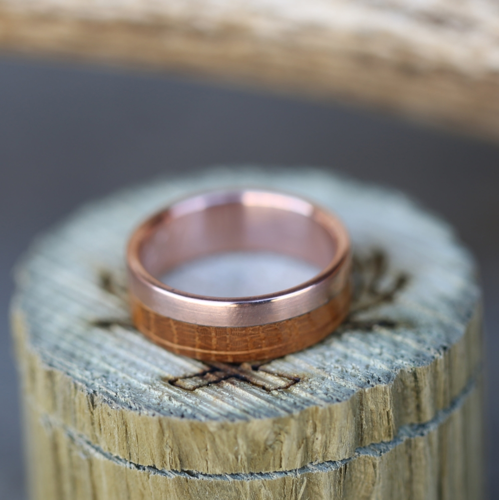 stripe a bentwood with ring northernroyal from oak products copper made rings wedding wood